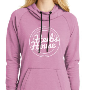Cowl Neck Hoodie Lilac