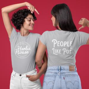 People Like Pot Women's Grey